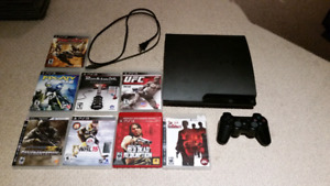 Ps3 with 1 controller and 8 games.