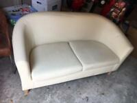 Small vinyl 2 seater sofa
