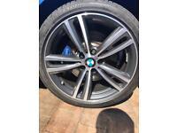 "Brand New Genuine BMW 19"" M Double Spoke Style 442M Alloy Wheels Bicolour Grey 5 Stud. From F33 BMW"