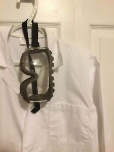 Lab coat and eye protection used for university chemistry class