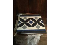 Beautiful Patterned Ceramic Floor Tiles - 20 x 20 cm. Quantity 20