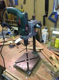 Drillbench Press Stand & pillar pedestal clamp - used (Wolfcraft)