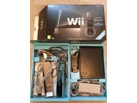 Wii, black, boxed,