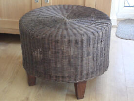 lovely large rattan pouffe / stool / table etc