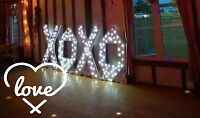 RENTING OUT XOXO light up white letters $75