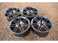 "Genuine 21"" Audi Q7 S Line Alloy Wheels 7 Double Spoke Satin Grey 4L0601025S L"