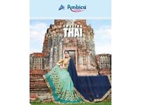 AMBICA AMAZING THAI WHOLESALE PARTY-WEAR SAREE
