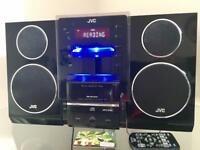 JVC CD player, radio, iPhone 3 docking station