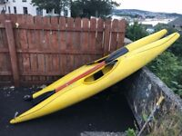 2 x Canoes / Kayaks (with oars)