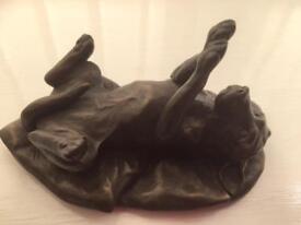 Bronze effect dog