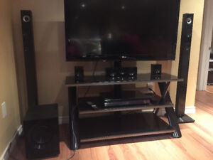 Tv stand, blue-ray & surround sound system