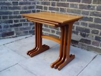 FREE DELIVERY Wooden Retro Nest of tables Vintage Furniture