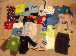 For Sale:  Baby Boy Clothes Sizes nb, 0-3m, 3-6m, and 6-12mo