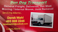 SUN DOG TRANSPORT Moving Delivery Junk Removal Hot Shot