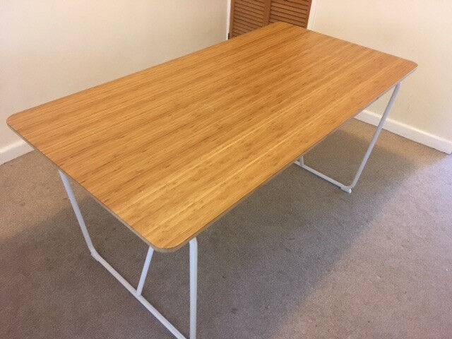 Modern Dining Table Ikea With Top Made Of Bamboo