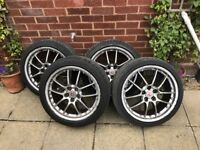 18 inch honda civic alloys and tyres