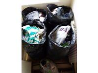 CARBOOT JOBLOT CLOTHES , 4 big bags