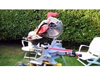 Milwaukee MS305DB 110v 305mm Dual Bevel Sliding Mitre Saw like new in the box
