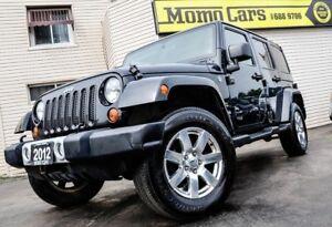 2012 Jeep Wrangler Unlimited Sahara! 4X4! 4 Door! ONLY $282/bi-w
