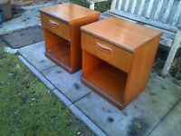 Pair of Large teak Bedside Cabinets by Meredew Danish Style