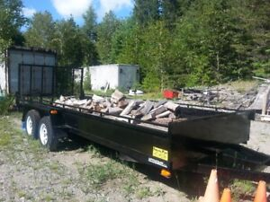 18ft Landscape Trailer with Brakes LIKE NEW!