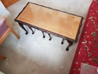 Coffee table with 2 smaller tables nesting underneath