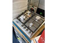 Stainless Steel Gas Hob With Cast Iron Pan Stands