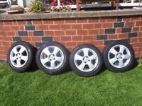 VAUXHALL CORSA ALLOY WHEELS AND TYRES