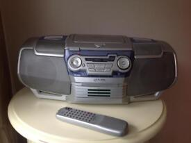 """Goodmans stereo 3 CD player with radio and cassette """"Boom box""""."""