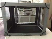 Collapsible dog cage