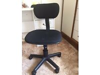 black fabric swivel office chair good condition