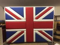 Huge Union Jack free standing double sided privacy screen.