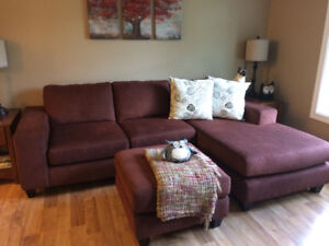 Couch with ottoman and chair