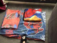 Spider-Man single duvet set and fleece