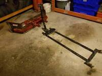 Quad atv logic slurry yard scraper with system 20 under carriage bracket tractor