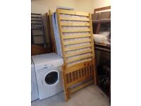 Solid Pine Wooden Single Bed With Mattress