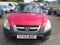 2003 HONDA CR V 2.0 i VTEC SE 5dr MOT JULY 2018 ALLOYS, HAL;F LEATHER 92K MILES