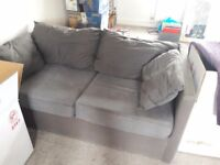 Charcoal grey bed settee