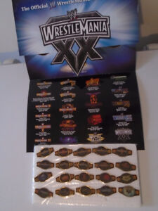 THE OFFICIAL WWE/WWF WRESTLEMANIA 20TH ANNIVERSARY PIN BELTS