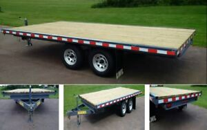22 ft Deckover trailer 10400 GVWR