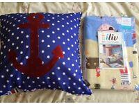 Pirate theme children's single duvet cover & cushion