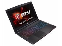MSI GE62-7RE Apache Pro Laptop 7th Gen i7 / GTX1050Ti Graphics, DDR4, SSD & 1TB HD *May Swap*