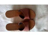 Womens Tan Sandals, Size 6
