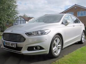 Ford Mondeo Titanium 2.0 TDCI. 150 bhp manual hatchback in Moondust Silver (Immaculate Condition)