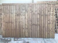 2 x NEW feather edge gates
