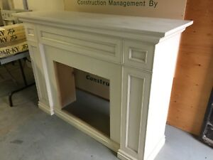 Modern Fireplace Mantel from Condo Showroom