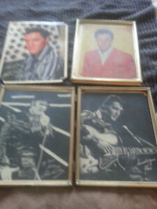 ELVIS PICTURES  (some damage  ( missing a few corners)  )