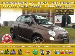 2014 Fiat 500 Sport-0%Financing or $1200 Cashback-$0DOWN