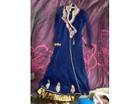Pretty Asian clothes-churidar suit set