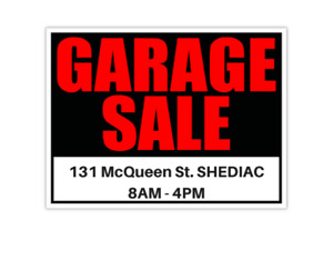HUGE Garage Sale - Lots for sale!!!!  ((Moving out)) - SHEDIAC